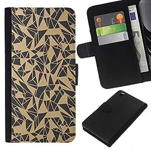 All Phone Most Case / Oferta Especial Cáscara Funda de cuero Monedero Cubierta de proteccion Caso / Wallet Case for HTC DESIRE 816 // Pattern Abstract Art Beige Grey