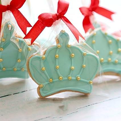 KENIAO Juego de Cortadores de Galletas en Forma de Corona Moldes para Galletas - 4 Piezas -Corona de Rey, Corona de Reina, Corona de Príncipe y Corona de ...