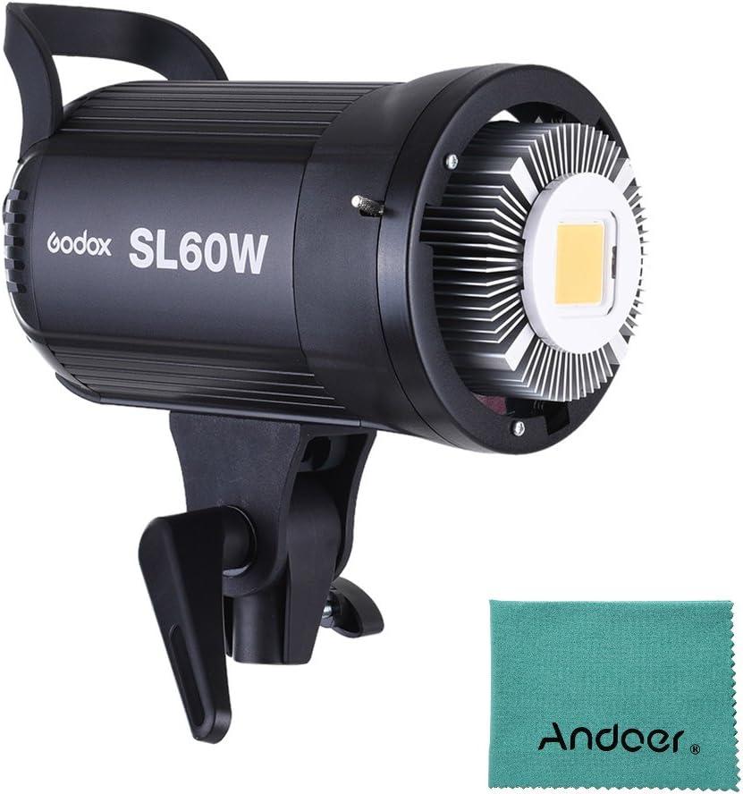 Godox sl-60W 5600K 60W alta potencia LED luz video inalámbrico mando a distancia con Bowens Mount para Video Foto Studio photografia grabación versión blanca