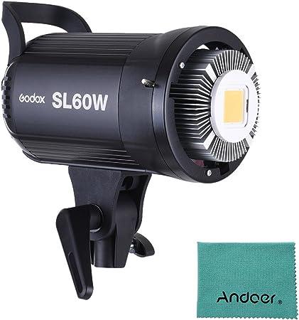 Todo para el streamer: Godox sl-60W 5600K 60W alta potencia LED luz video inalámbrico mando a distancia con Bowens Mount para Video Foto Studio photografia grabación versión blanca