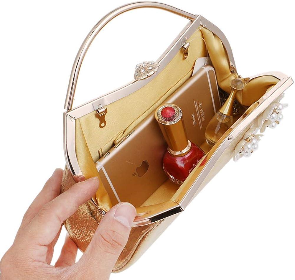 Evening Bags For Womens Clutches Purse Chain Dress Handbags Wedding Flower