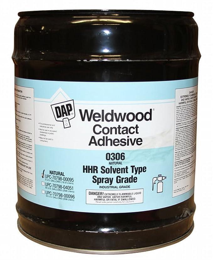 Dap 04054 55 Gallon Weldwood 0306 - 0307 alta resistente al calor adhesivo de contacto, color rojo: Amazon.es: Bricolaje y herramientas