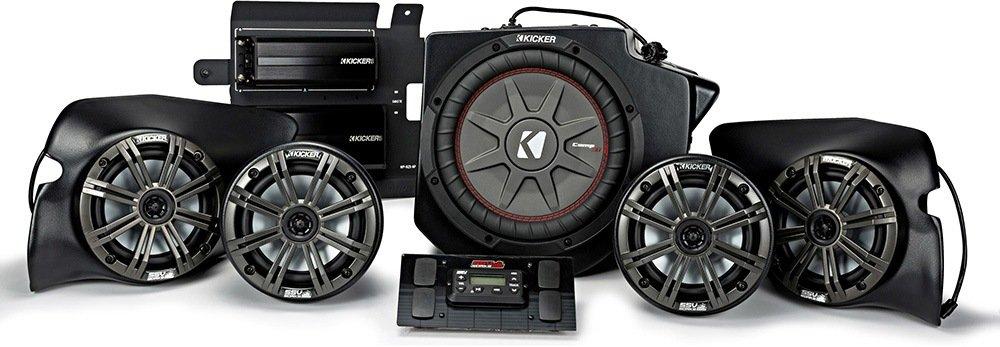 キッカー& Ssv Works 44prz33 800ワット、5スピーカー、プラグアンドプレイポラリスRZRステレオシステム – Fits 2013 and upポラリスRZRS B0767PY6BN