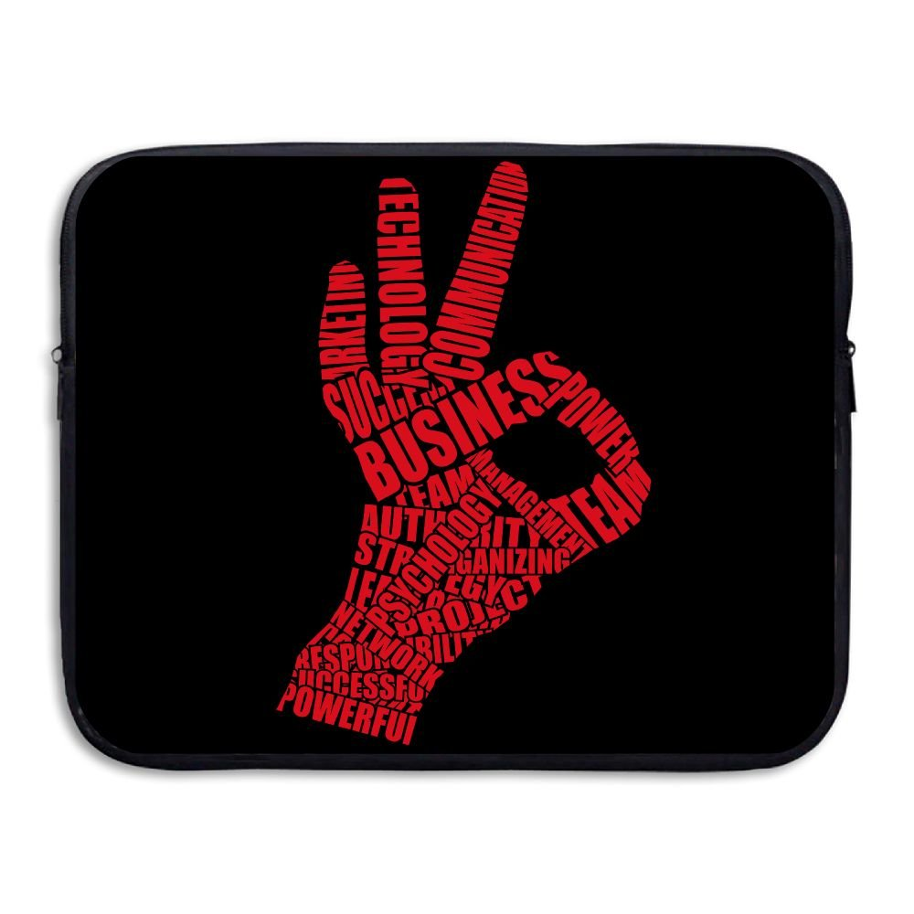 Reteone Laptop Sleeve Bag OK Fine Gesture Art Cover Computer Liner Package Protective Case Waterproof Computer Portable Bags