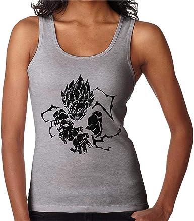 Goku Super Saiyan Black Print Dragon Ball Z Womens Vest ...