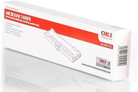 Original Oki 43821103 Black For Oki Microline 5100 Fb Bürobedarf Schreibwaren