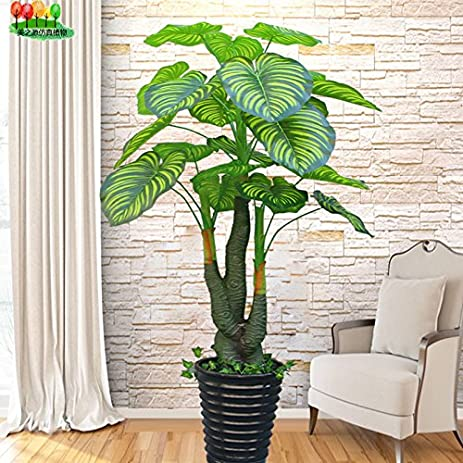 Beau The Fake Tree Pachira Living Room Decorative Tree Large Floor Potted Bonsai  Plants Simulation Plant Plastic