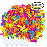 Jeffirm 1600 Pieces Water Balloons Bombs Bunch With 10 Pieces Hose Nozzle For Outdoor Water Bomb Fight Games