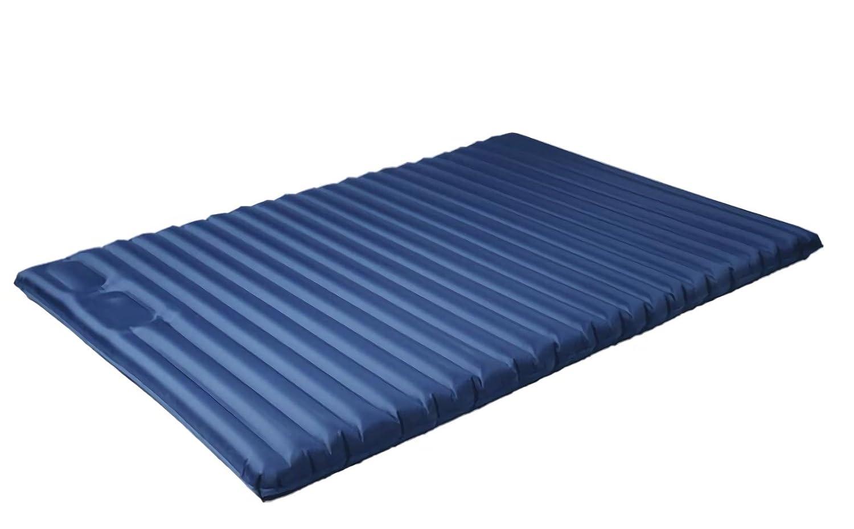 Haol Leichte Einzel-/Doppel-Luftmatratze Outdoor Camping Schlafmatte Pad Bett mit Eingebauter Fußpumpe 200 × 135 × 10 cm