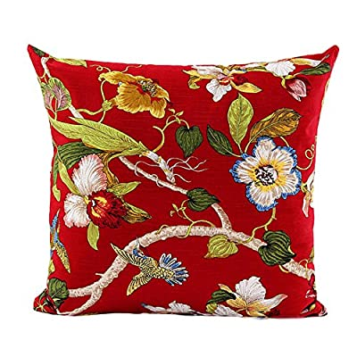 FairyTeller Floral Home Sofa Bed Decor Plaids Throw Pillow Case Square Cushion Cover Decorative Throw Pillows Case Pillowcase