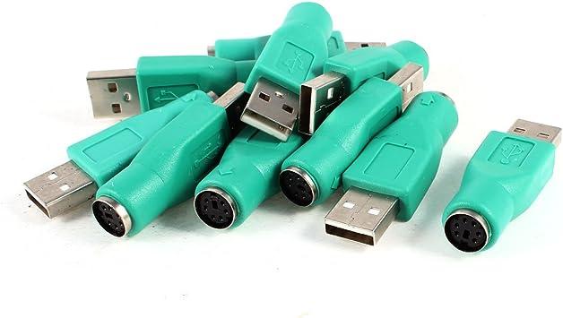 10 Pcs Adaptador para Ratón Teclado de Computadora Portátil con PS/2 Mini DIN 6 Pin Hembra a USB Macho: Amazon.es: Electrónica