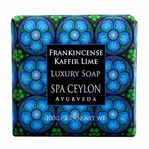 Spa Ceylon Paraben-Free Vegetarian Luxury Bar Soap 3.53 ounce Made in Sri Lanka (Frankincense Spice) (Spice Spa)