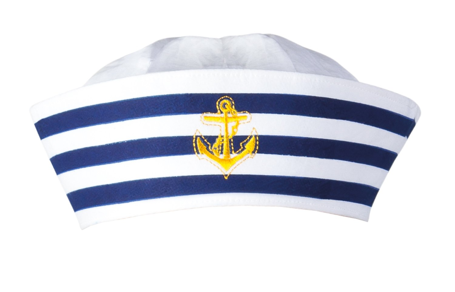 Hippie Hats,  70s Hats Boland BV Navy Sailor Doughboy Hat White/Navy $10.72 AT vintagedancer.com
