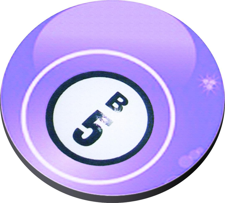 Bingo Balls on Neoprene Coaster Set of 5 For Enthusiast Player