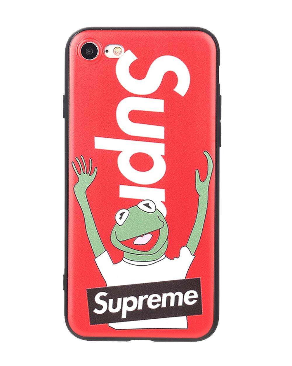 Compatible con el iPhone de Apple X, Rojo 70s up Sup Frog Case Supreme x Kermit con la Portada de la Rana Sentir la Portada con Motivos 3D s/ólido