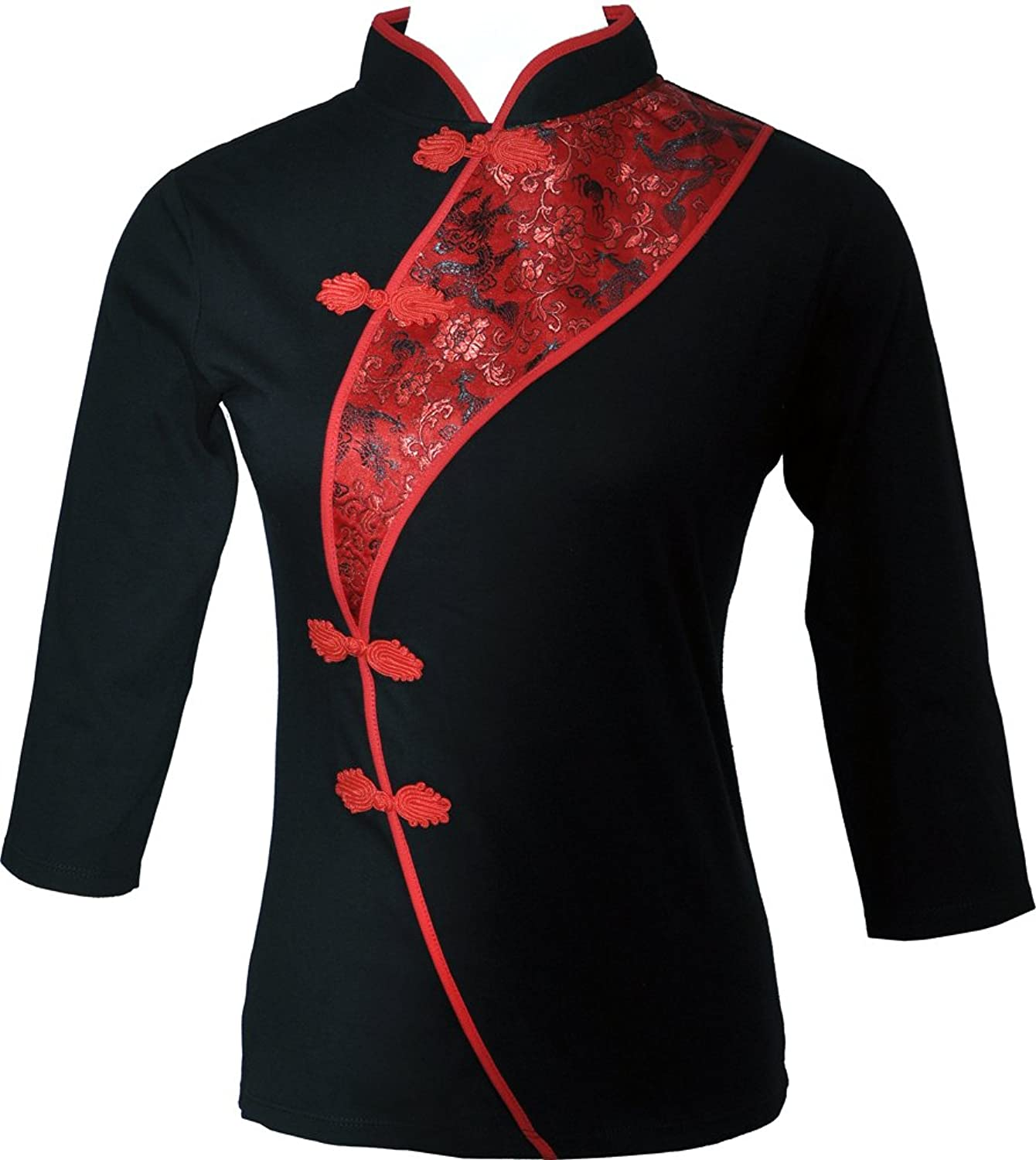 Amazing Grace Chinese Sexy Cotton 3 Quarter Sleeves Qipao Dress Top