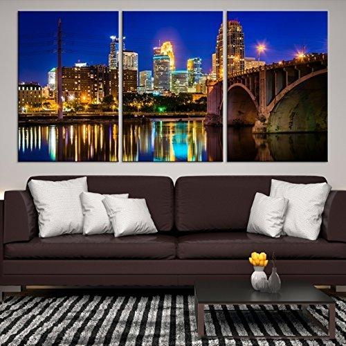 Amazon.com: Minneapolis Wall Art Print, Large Wall Art Minneapolis ...