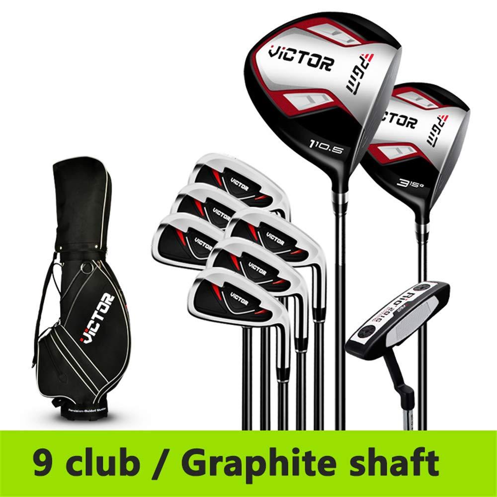 ビクターゴルフ大人用キューキットジュニアクラブゴルフドライバーメンズコンプリートセットクラブ/カバーフルセットパターウッドアイアンスタンダードバッグ  Carbon