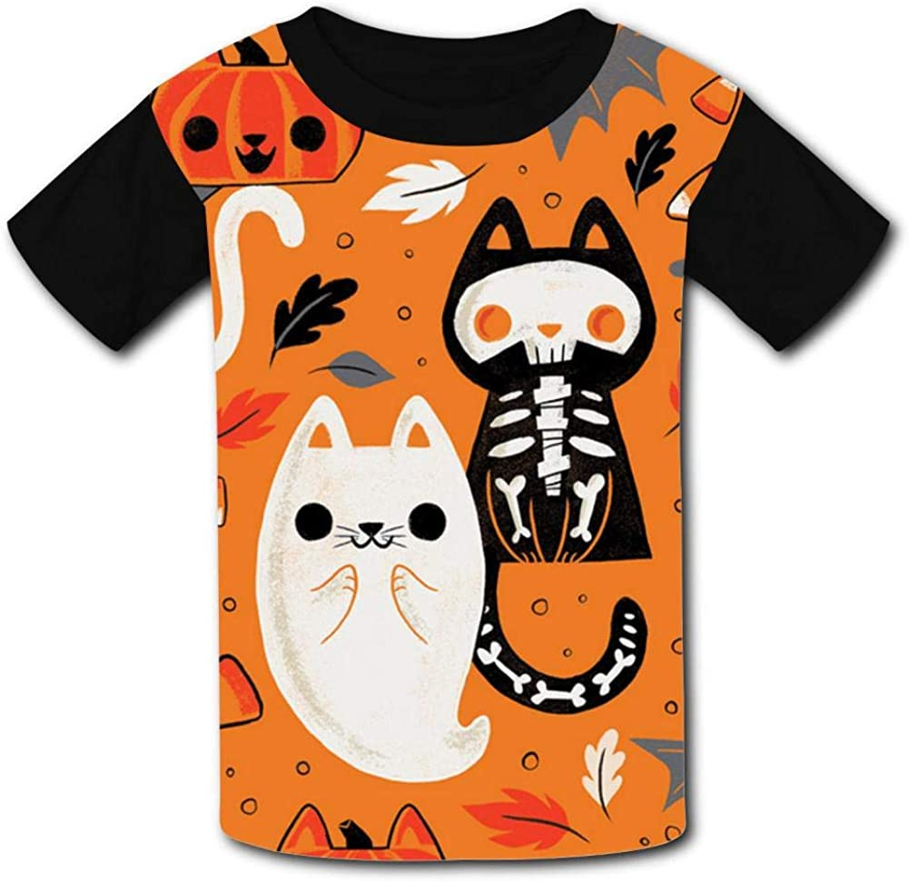 GAENM Halloween Ball Childrens 3D Summer Short Sleeve Printing T-Shirts