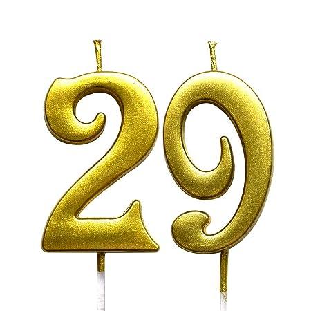 MAGJUCHE - Vela con número 29 para Tarta (número 29), Color ...