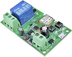 DIY Wifi Switch, DC5V 12V 24V 32V Wireless Relay Module Inching Self-Locking Smart Home Automation Modules APP Remote Control Timer Switch Voice Control Compatible with Alexa Google Home
