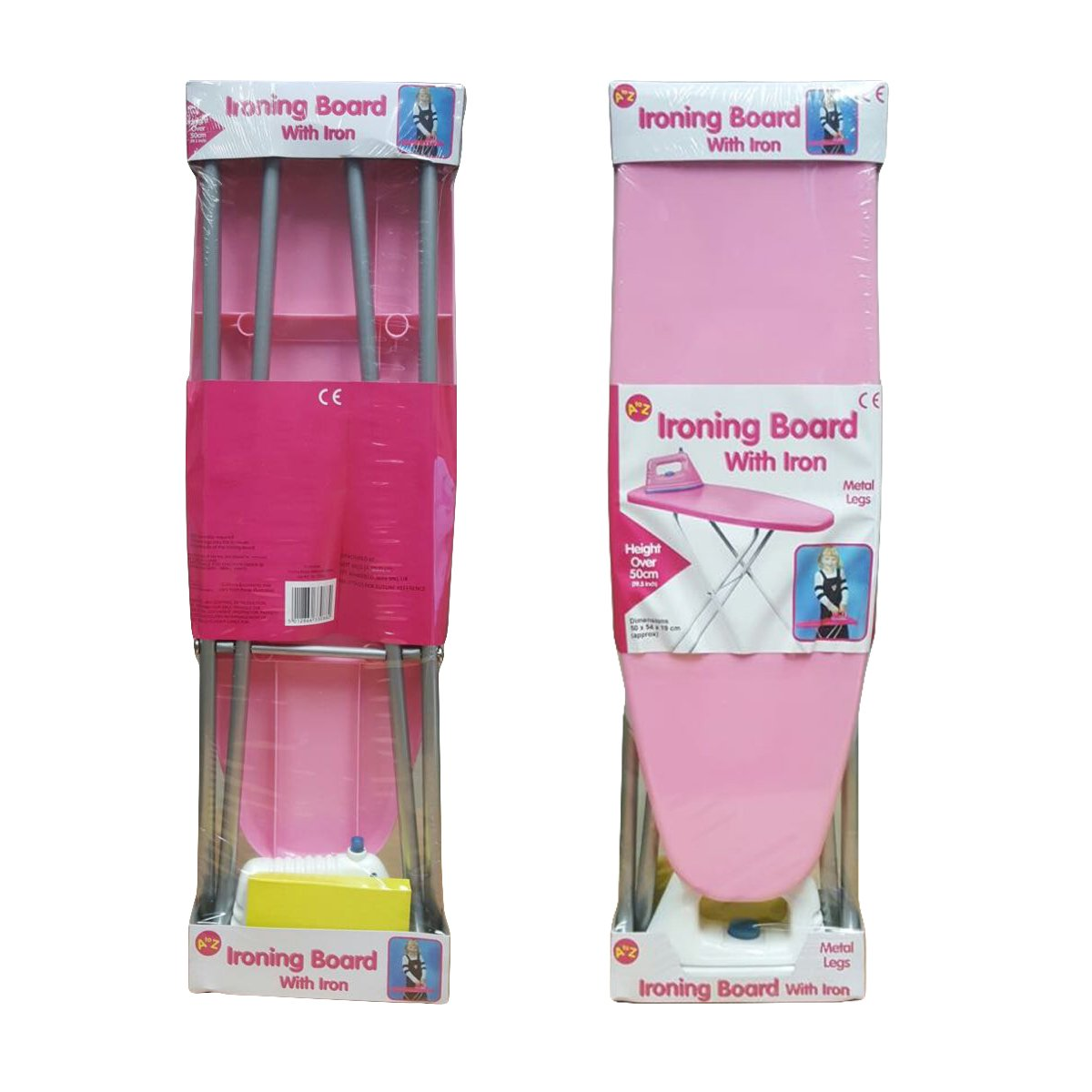 Children Pretend Play Folding Ironing Board Toy with Iron Pink Girls Fun Activity House Play Bedroom Xmas Birthday Gift Set FB FunkyBuys