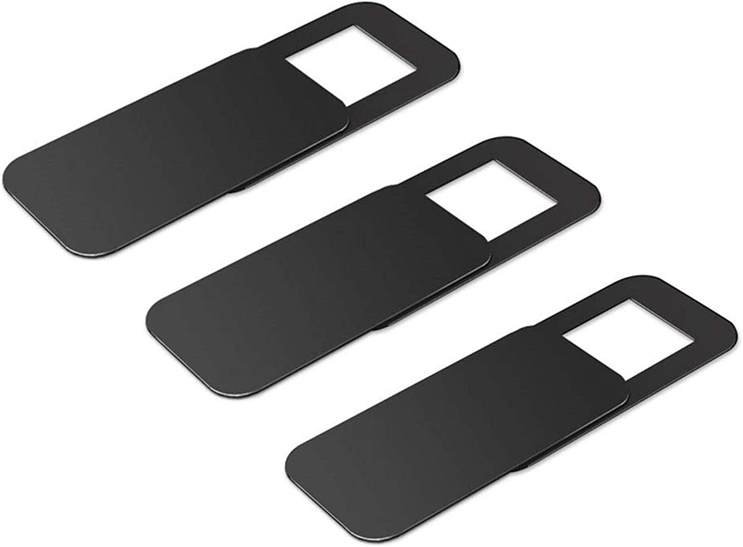 Webcam Cover, Ubitree Webcam Cover Slide Laptop Camera Cover Slide for iPhone Android Laptops Mac Books PCs Tablets SmartphonesCovers Your Camera for Privacy Security Black 3 Pack