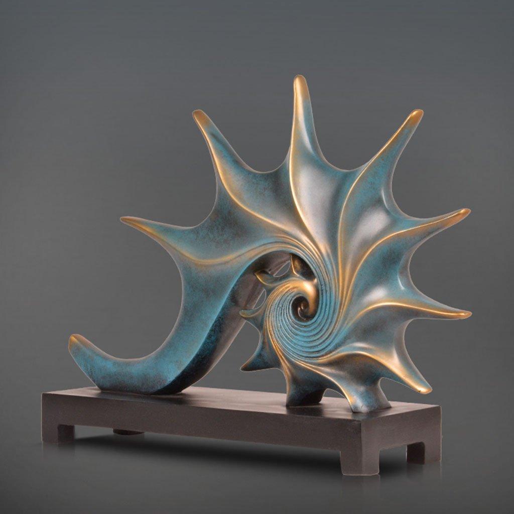 装飾材料 ブルー樹脂コーチヴィンテージリビングルームクラフト装飾17 * 2 * 12インチ   B07JZD1L75