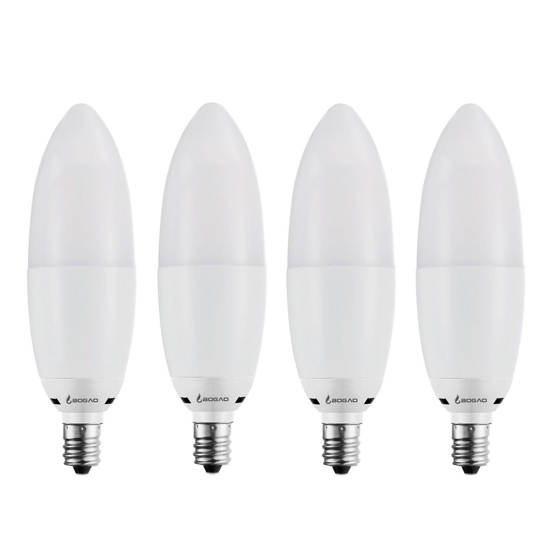 Bogao LED Candelabra Bulb 12W Warm White 3000K LED Candle Bulbs 85