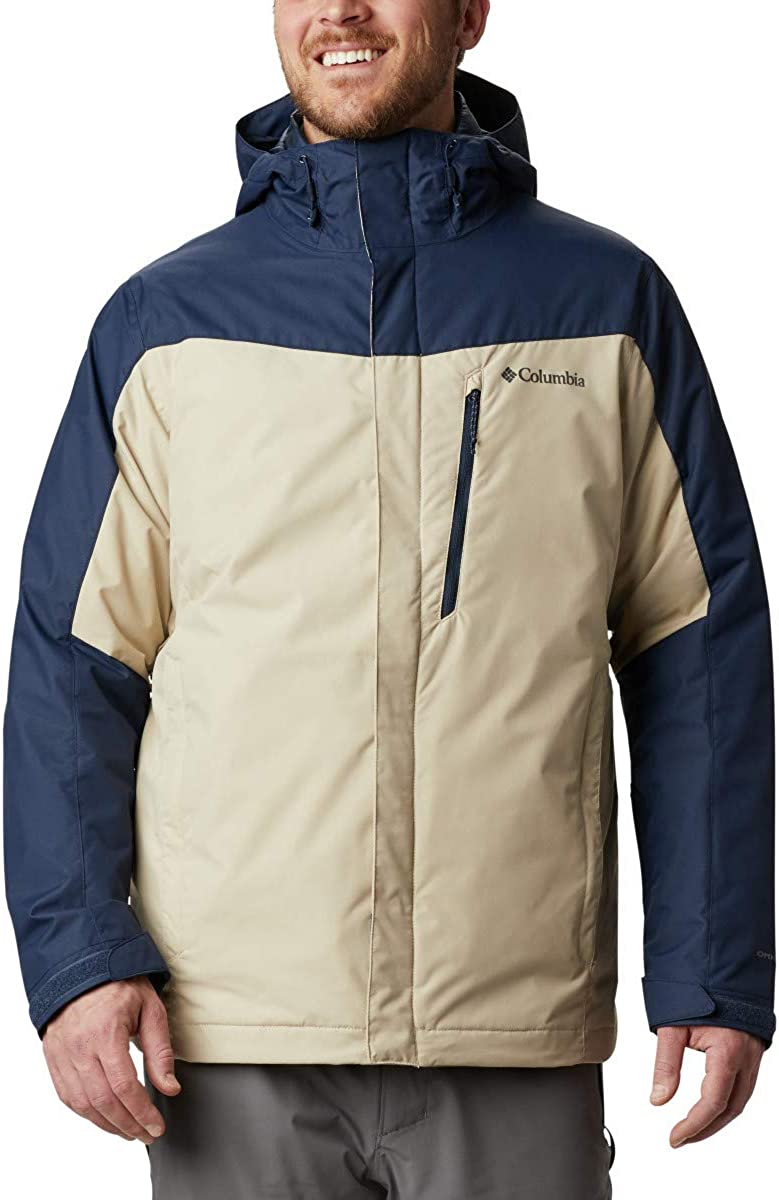 Waterproof /& Breathable Columbia Men\s Whirlibird IV Interchange Jacket