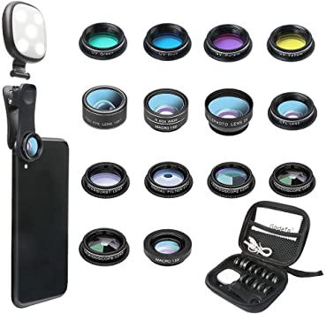 Android 25mm Super Macro Lens /& Star Filter Lens with Clip-On Cell Phone Camera Lenses for iPhone AUSWIEI Phone Camera Lens Kit Samsung Mobile Phones and Tablets