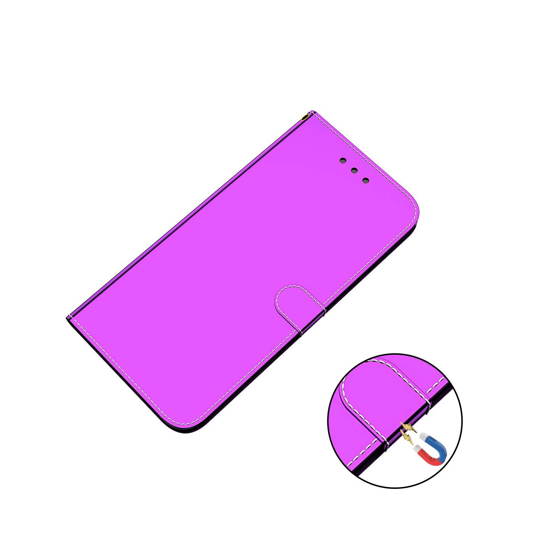 Nadoli Spiegel Fl/äche Ledertasche f/ür iPhone Xs//X 5.8,Modisch M/änner Frauen Magnetverschluss Mirror Effekt Kartenhalter Flip Cover Schutz Schutzh/ülle Brieftasche mit Standfunktion
