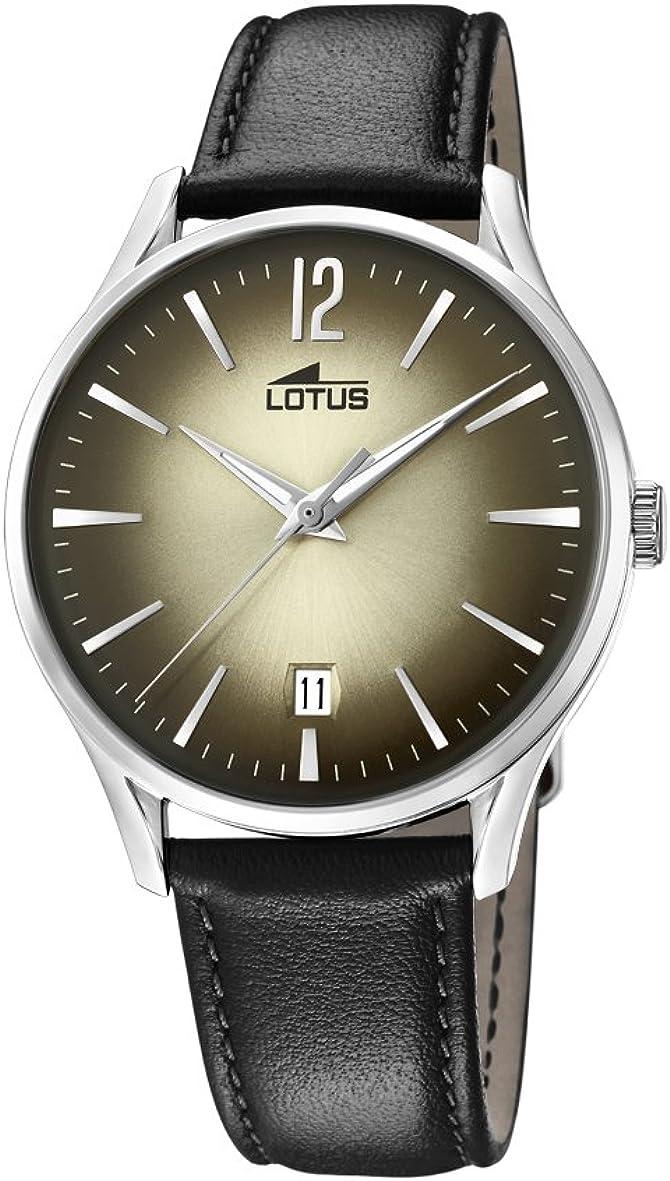 Lotus Watches Reloj Análogo clásico para Hombre de Cuarzo con Correa en Cuero 18402/2