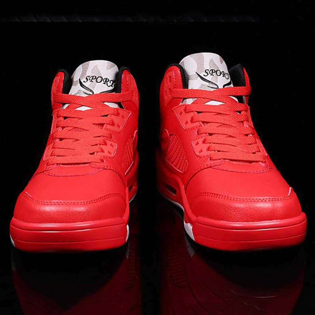 JUANN Chaussures de basket-ball pour hommes Absorption des chocs de performance Bottes de basket-ball Baskets montantes de luxe Red
