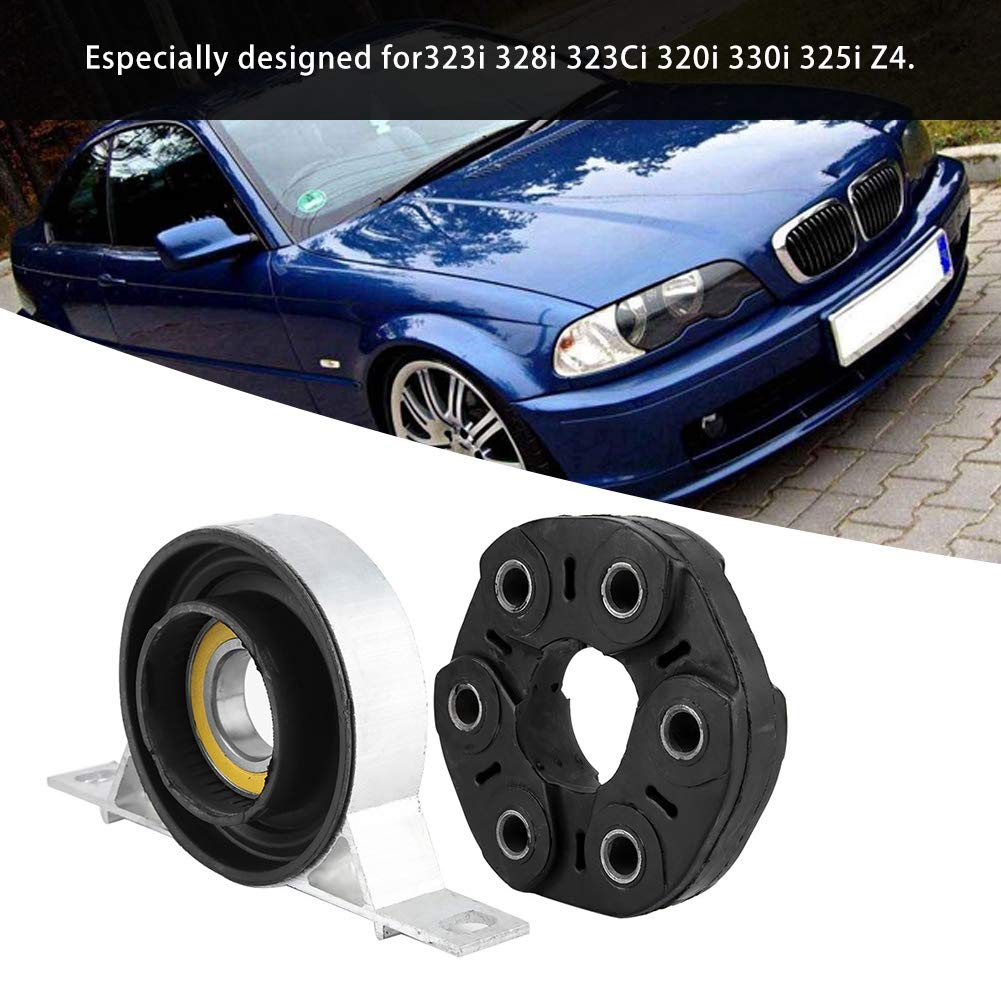 KIMISS 6 holes Drive Shaft Flex Disc Joint,Drive Shaft Flex Support Kit for 323i 328i 323Ci 320i 330i 325i Z4 Rubber + Aluminum Alloy