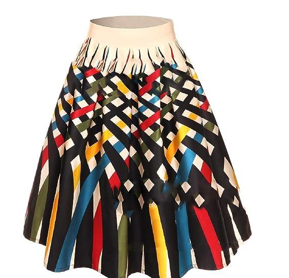 Andopa Impresión del Rockabilly del vestido de noche de la falda ...