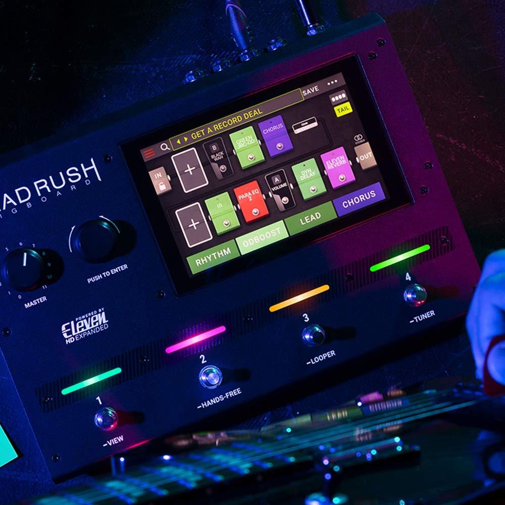 HeadRush Gigboard - Procesador de modelado de amplificadores y efectos de guitarra ultraportátil con software DSP Eleven HD Expanded, pantalla táctil de 7 ...