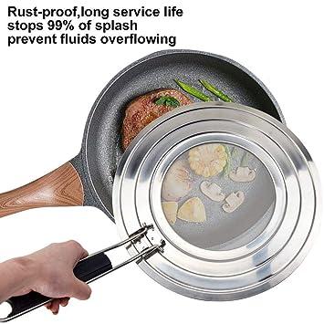 Frying Pan Cover Splash Guard Cooking Oil Food Splatter Screen Kitchen Mesh