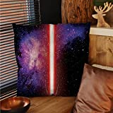 sunsunshine Galaxy patterned pillow cases Famous Movie Weapon Fantastic Galaxy War between Enemies Theme Sword with Red pillow cases decorative Black