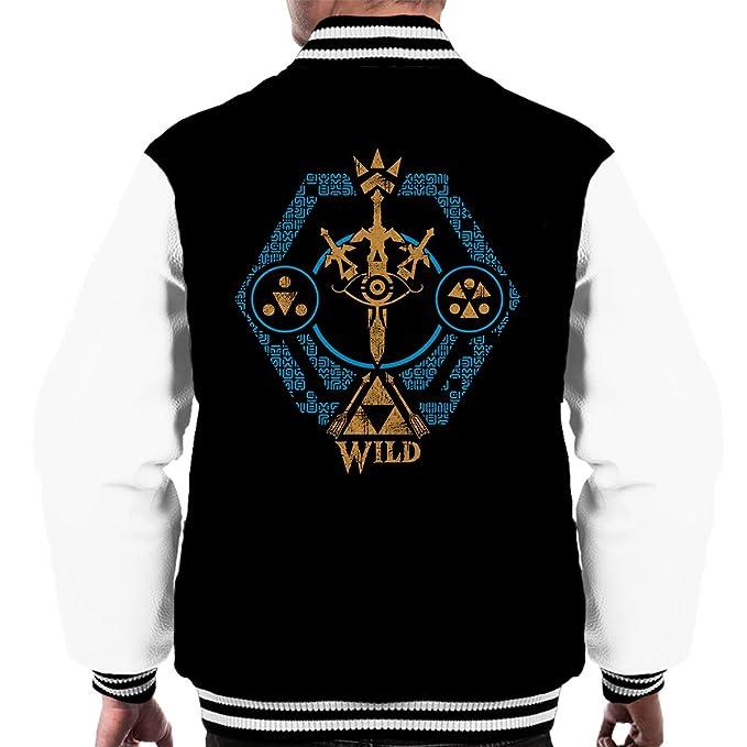 Legend Of Zelda Breath Of The Wild Mens Varsity Jacket ...