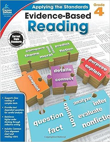 Amazon evidence based reading grade 4 applying the standards amazon evidence based reading grade 4 applying the standards 9781483814629 carson dellosa publishing books fandeluxe Choice Image