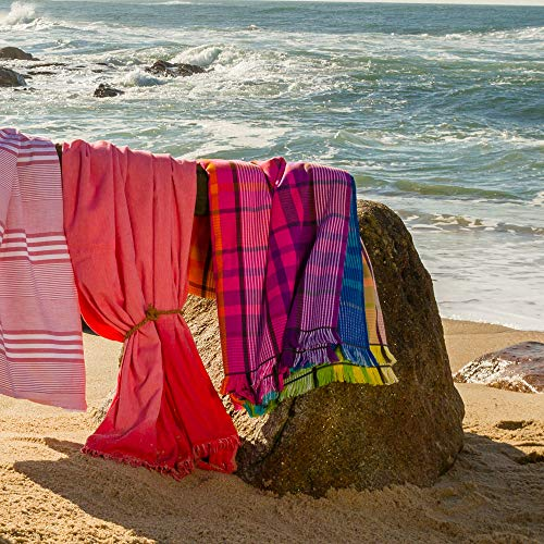 Toalla de playa zusenzomer cuadrada 180 x 180 cm 100% algodón - 290 g/m² Maremma cuadros, multicolor: Amazon.es: Hogar
