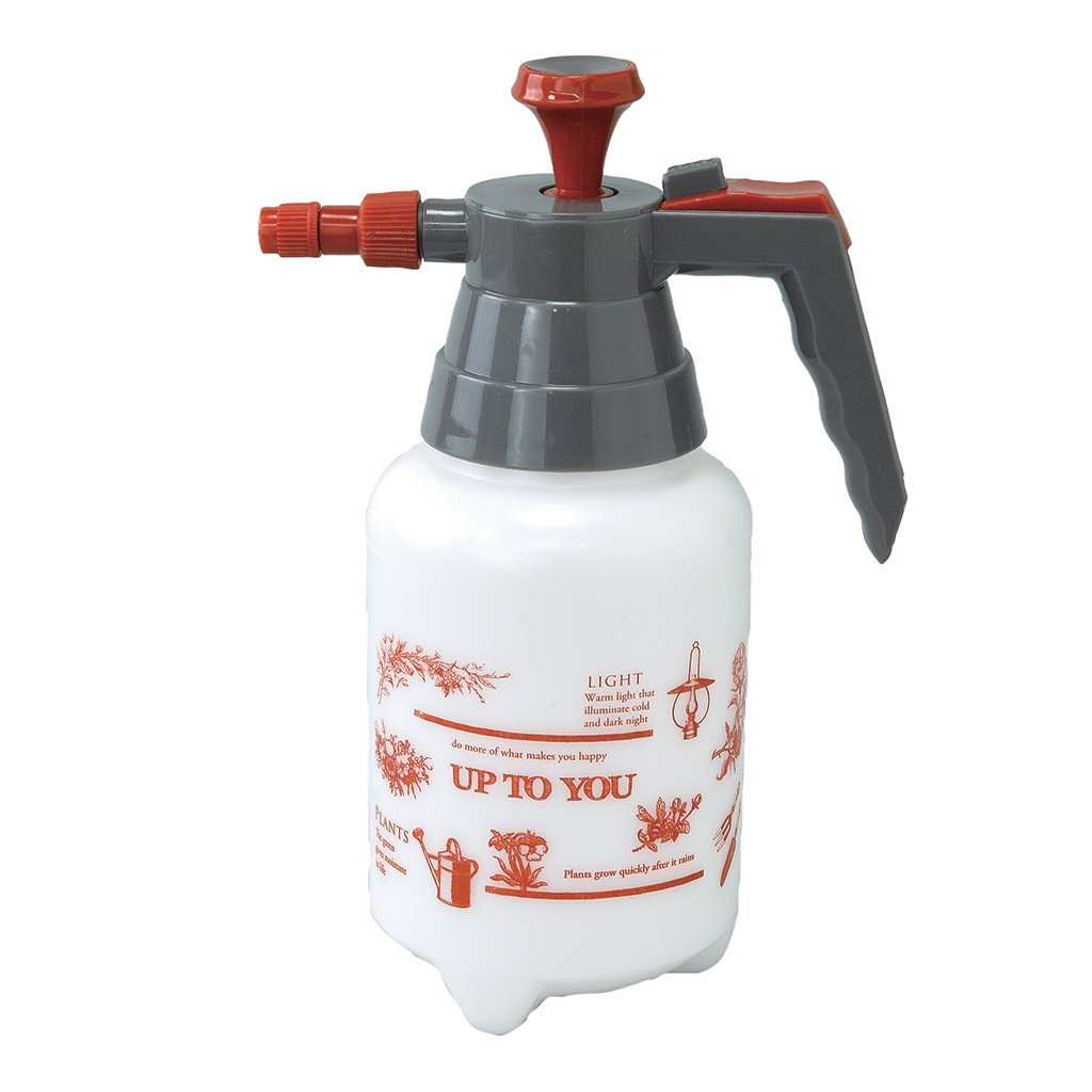 Time Concept 1L Polyethylene Pressure Garden Sprayer Red Up To You - 2-in-1 Watering Tool