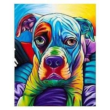 5D DIY Full Drill Diamond Painting Dog Cross Stitch Embroidery Mosaic Kit Decor