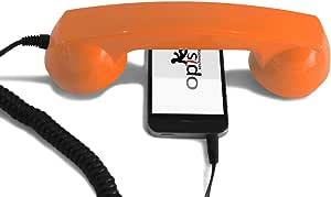 OPIS 60s Micro: Retro handset/Vintage handset/Retro Phone/Mobile handset for iPhone, Galaxy, BlackBerry, Lumia, etc. (Orange)