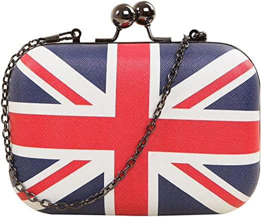 British Union Jack Flag UK Travel Keyring Small Card Coin Clasp Purse