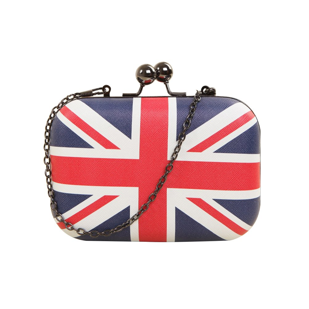 Tinksky British Flag Woman Crossbody Shoulder Bag Chain Bag Handbag Evening Party Bag Q4155ZA13QAQ