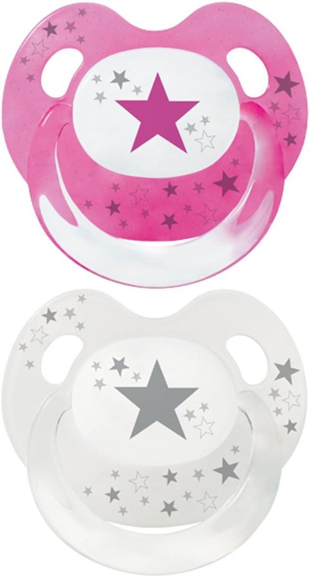 /18/meses gris Baby Chupete con estrellas Baby Nova silicona tama/ño 6/