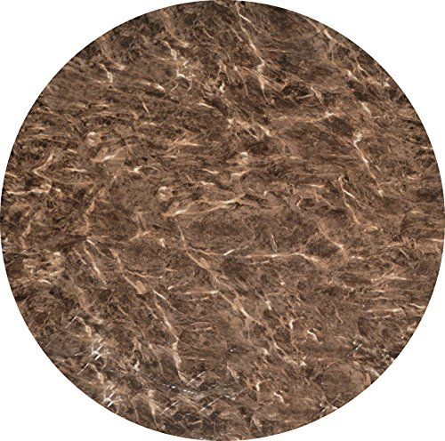 Fitted Vinyl Tablecloth Round - Fits 40 to 48 inch tables (Brown Marble)