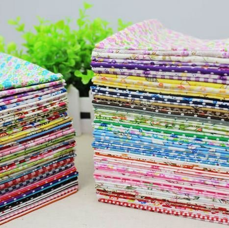 50pieces 2025cm Remnant cotton fabric charm packs patchwork fabric Bundle quilting tilda for sewing Diy cloth
